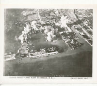 WWII 1944 Philippine Official US Navy Photo planes blast Sourabaja NEI