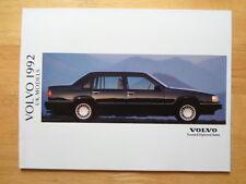 VOLVO Range 1992 UK Tourist & Diplomatic sales brochure -960 940 240 480 440 460