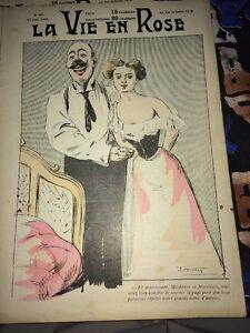 PROSTITUTION -ÉROTISME. REVUE CARICATURES 1903. Scène D'amour.