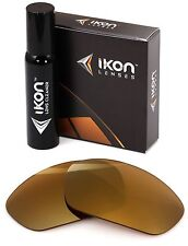 Polarized IKON Iridium Replacement Lenses For Oakley Juliet 24K Gold Mirror