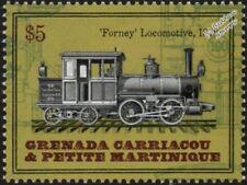 New York City Elevated Railroad 1878 Forney 0-4-4 Steam Train Locomotive Stamp