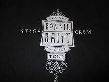 "Rare Bonnie Raitt ""Luck of the Draw"" Concert Tour Stage Crew (Lg) T-Shirt"