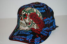 CHRISTIAN AUDIGER KIDS FITTED YOUTH SKULL AND RHINESTONE CAP/HAT - SIZE  6 1/2
