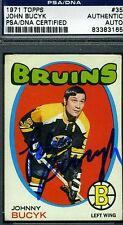 JOHNNY BUCYK SIGNED PSA/DNA CERTED 1971 TOPPS AUTOGRAPH