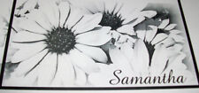 BLACK AND WHITE  CHECKBOOK COVER  PERSONALIZED WITH NAME