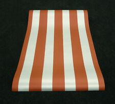 6215-28) 10 Rollen coole Tapeten Fetzige Streifen hellrot  und silber