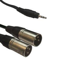 Adapter Kabel 2x XLR Male / Mini Klinke 3,5mm für Smartphone 1,5m MP3 Player Neu