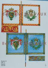 LE PLUMET PLANCHE D2 : DRAPEAUX ÉTENDARDS ROYAUME DE SAXE (I) 1811-1813
