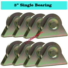 """3"""" V Groove Wheel Bracket Temper Steel Slide Driveway Rolling V track Gate Lot 8"""