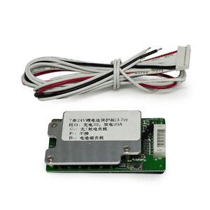 7S 24V BMS Charging Protector Board For 3.7v 4.2v 18650  Li-ion Lithium Battery