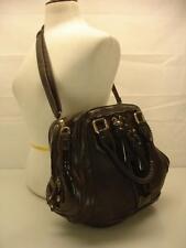 Gianni Bini black patent leather convertible crossbody messenger bag purse tote