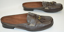 Natural Soul Naturalizer Wilmont Slip-On Mules Brown Shoes Tassels Women's 6 M