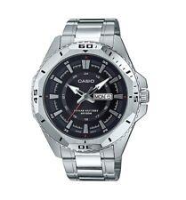 Casio MTD-1085D-1A Sport Analog Mens Watch Stainless Steel MTD-1085 100M WR New