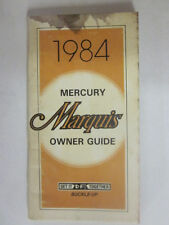 1984 Original FORD MERCURY MARQUIS Owners Manual 2ND Edition #365-1201584A