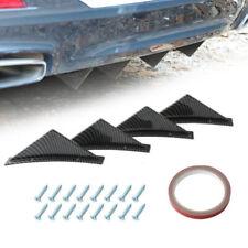 Carbon Fiber Car Rear Bumper Diffuser Shark Fin Curved Spoiler Lip Wing Splitter