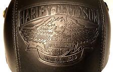 HELM Braincap BIKE Retro Harley Davidson JET MOTORRAD LEDER Gr.: M , NEU , HE12