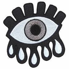 Eyeball Eye Wicca Crying Goth Tattoo Biker Rock Skateboard Iron-On Patch #SA021