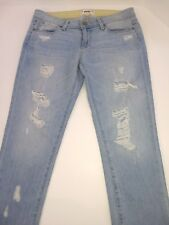 Paige Jimmy Jimmy Crop Jeans Destructed Womens US Sz 26 Light Wash