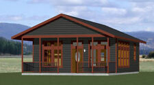 24x30 House -- 1 Bedroom 1 Bath  -- PDF Floor Plan -- 720 sq ft -- Model 2C