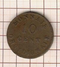 Louis XVIII  10 Centimes obsidionale siège d'Anvers 1814 , R sous le ruban