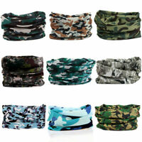 Bandana Tube Face Mask Headwear Head Neck Plain / Camouflage Biker Scarf Wraps