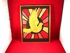"""Amazing 11"""" Wooden Dove Plaque Hand-Crafted Sr John Boegeman"""