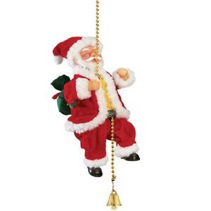 Animated Musical Climbing Santa on Chain Christmas Decoration