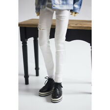 "White Ripped Jeans pants Outfits For Male 1/4 17"" 44cm BJD MSD AOD AS LUTS DOLL"