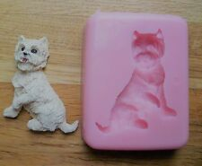 6cm WESTIE SILICONE MOULD FOR CAKE TOPPERS CHOCOLATE CLAY ETC