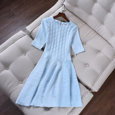 Ted Baker Sanvie Textured Stitch Dress in Blue size 2 UK 10 EU 38 US 6 £149