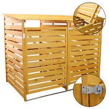 Wheelie Bin Storage Double Wooden Store Outdoor Garden Dustbin Shed Free Kit