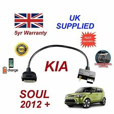 Para Kia Soul Iphone 3 3gs 4 4S Ipod USB & 3.5mm Cable Audio Auxiliar My 2012+