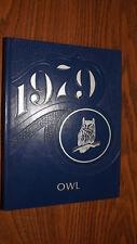 1979 Odessa Texas Bonham Jr High School Owls Yearbook