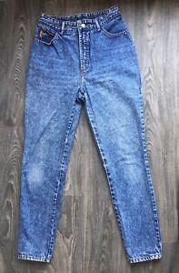 "Bongo Denim Jeans Vtg 80s Acid Wash High Waist Mom USA Size 13 (26"" waist)"