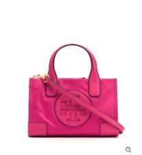 Tory Burch NEW Ella Micro Tote Bag Crossbody Bright Hot Pink AUTHENTIC $178