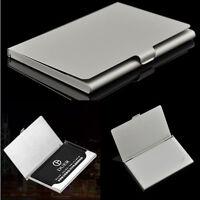 Edelstahl Pocket Business Name Kredit ID Karte Fall Metall Box Halter Abdeckung