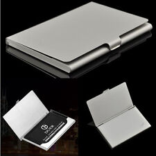 SimpleStainless Pocket Business Name Credit ID Card Holder Metal Box Cover Pouch