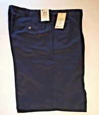 HAGGAR MEN'S COOL 18 PERFORMANCE SHORTS PLEATED FRONT SIZES - 34 & 40 NAVY NWT