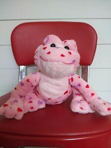 Ganz Webkinz Love Pink Puppy Dog Plush With Hearts HTF Collectors Stuffed Animal