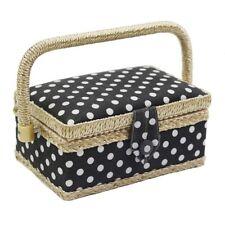 Sewing Storage Basket Polka Dot Cotton Fabric Crafts Thread Needle Box Organizer