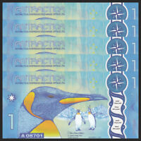 LOT 5 SETS Wilkes Land Antarctica 7 banknotes 2014 UNC private issue