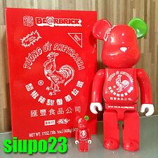 Medicom 400% + 100% Bearbrick ~ BAIT x Sriracha Sketracha Be@rbrick