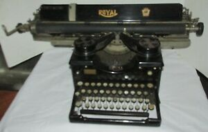 Antique 1927 Royal Model 10 Typewriter Wide Carriage Restore/Parts LQQK!