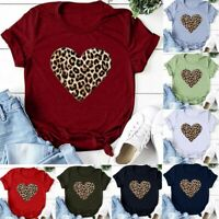 Happy Valentine's Day T-shirt Cute Women O-Neck Valentine Graphic Tee Top Outfit