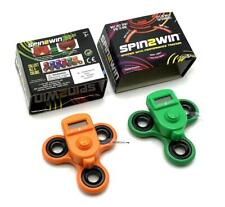Spin2Win Dual Orange / Green Fidget Spinner With Performance Tracker (100 Avail)