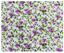 Tessuto Cotone Doppio Fantasia Fiorellino Fiore Rosellina Lilla Viola 280x280cm