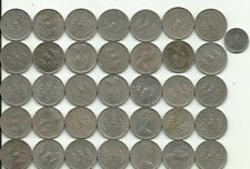lot van 36 munten van 5 Pence van Engeland weegt 203 gram groot model ,zie foto'