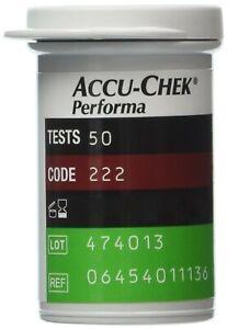 50 Tiras Reactivas Accu Chek Performa Accuchek Nano Caja Sellada De Glucosa P...