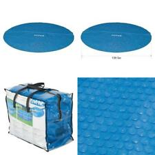 Intex 16 Foot Round Easy Set Blue Vinyl Solar Cover for Swimming Pools Frame Poo