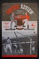 MANCHESTER UNITED V  BLACKPOOL 1956/57 OFFICIAL PROGRAMME